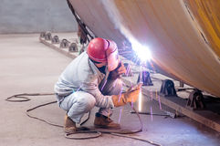 A Welder Is Working Royalty Free Stock Image