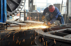 A Welder Is Working Stock Photography