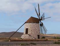 A Wind Mill With Six Wings On Fuerteventura Stock Image