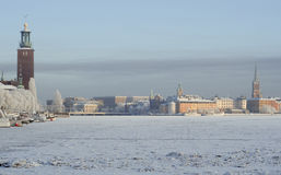 A Wintery Stockholm Royalty Free Stock Images