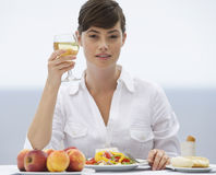 Free A Woman Eating Alone Royalty Free Stock Images - 67249269