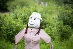 A Woman Scarecrow Stock Photography