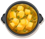 A Yellow Curry On Hot Pan Royalty Free Stock Images