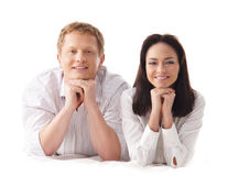 Free A Young And Happy Caucasian Couple On White Royalty Free Stock Photo - 23742905