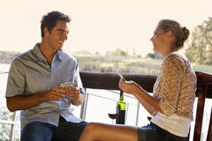 Free A Young Couple Playing Cards Stock Image - 67243301