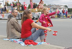 Free A Young Family On Canada Day Royalty Free Stock Photography - 25523197