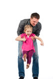 A Young Father And Daughter Playing Royalty Free Stock Photos