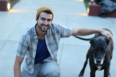 Free A Young Man And His Old Best Friend Royalty Free Stock Images - 51862209