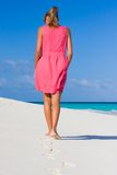 A Young Woman On A Tropical Beach Royalty Free Stock Photo