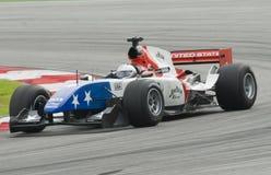 A1 bestuurder Marco Andretti van het Team de V.S. van A1 in actie Stock Foto