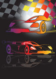 A1 Grand Prix. Motorsport racing with flag in colour vector illustration