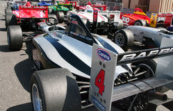 A1 Grand Prix cars. Aligned on Brands Hatch paddocks - Formula Palmer Audi series on May 5th 2009 Stock Photo