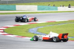 A1 Grand Prix Racing. A1 Grand Prix race cars in action Royalty Free Stock Image