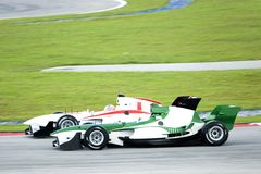 A1 Grand Prix Racing. A1 Grand Prix race cars in action Stock Photography