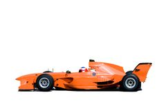 A1 Grand Prix Racing Car. Isolated image of a grand prix car Royalty Free Stock Images