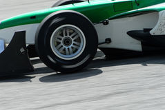 A1 Grand Prix in Sepang Malaysia. A close up of a front tyre at A1 Grand Prix in Sepang Malaysia Royalty Free Stock Image