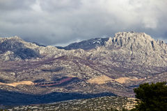 A1 Highway, Croatia - Velebit mountain road Royalty Free Stock Photo