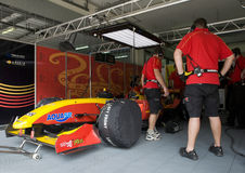A1 Team China pit crews take a break Stock Image