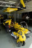 A1 Team Malaysia pit crews inspect the car Stock Photos