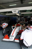 A1 Team Monaco pit crews inspect the car Stock Images