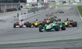 A1 Teams die bij het begin van A1GP ras rennen. Stock Foto's