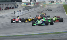 A1 Teams racing at the start of A1GP race. Stock Photos