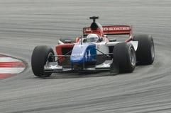 A1 Treiber Marco Andretti A1 des Teams USA in der Tätigkeit Stockbild