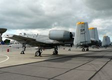 A10 Thunderbolt. An A-10 Tankbuster at rest stock photography