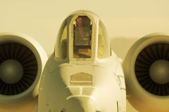 A10 Warthog. Versatile military jet named The Warthog Royalty Free Stock Photos