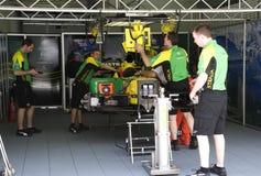A1GP - Action d'équipage de mine de l'Australie d'équipe Photos stock