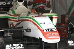 A1GP - Coche de carreras de Italia de las personas Foto de archivo libre de regalías