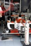 A1GP - de Actie van de Bemanning van de Kuil van Monaco van het Team royalty-vrije stock foto