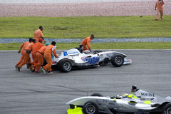 A1GP Race Car Assistance Stock Photos