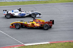 A1GP Race Car Spin and Evasive Action Royalty Free Stock Images