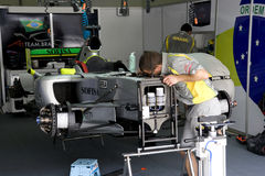 A1GP - Team Brazil Pit Crew Action Royalty Free Stock Photography