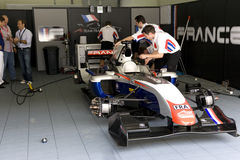 A1GP - Team France Pit Crew Action Royalty Free Stock Images
