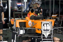 A1GP - Team Netherlands Pit Crew Action Royalty Free Stock Photos
