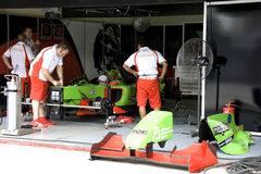 A1GP - Team Portugal Pit Crew Action Royalty Free Stock Photography