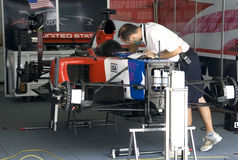 A1GP - Team USA Pit Crew Action Stock Photo