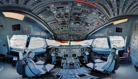 A300 jetliner cockpit Royalty-vrije Stock Afbeelding