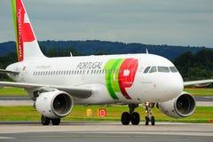 a319航空空中巴士葡萄牙 库存照片