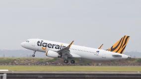 空中客车A320-232泰格航空公司,澳大利亚 库存照片