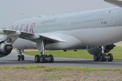 卡塔尔航空A320 图库摄影