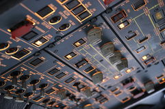 A320 Overhead Panel Stock Photos