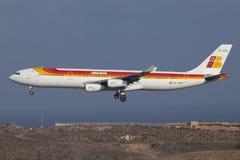 a340 airbus Iberia Στοκ φωτογραφία με δικαίωμα ελεύθερης χρήσης