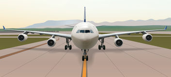 A340-front-view Stock Photo