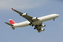 A340 with red tail Royalty Free Stock Images