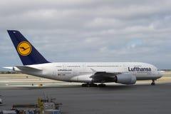 a380空中巴士汉莎航空公司 库存照片