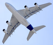 A380 à Moscou Images libres de droits