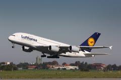 A380汉莎航空公司 库存照片
